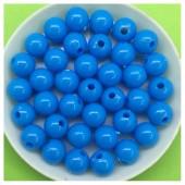 Голубой цвет. Бусинки акриловые цветные. 8 мм 400 гр # 050