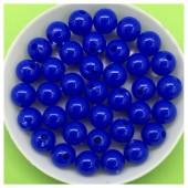 Синий цвет. Бусинки акриловые цветные. 8 мм 400 гр # 050