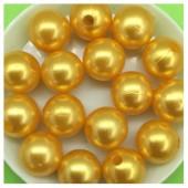 Желто-оранжевый с перламутром цвет. Бусинки акриловые цветные. 12 мм 400 гр  # 050