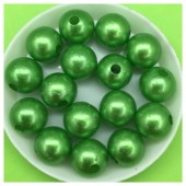 Зеленый перламутром цвет. Бусинки акриловые цветные. 12 мм 400 гр  # 050