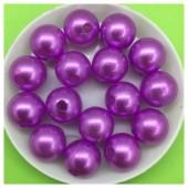 Фиолетовый с перламутром цвет. Бусинки акриловые цветные. 12 мм 400 гр  # 050