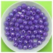 Фиолетовый цвет. Бусинки акриловые хамелеон.  6 мм  100 шт  # 053