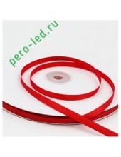 Красный цвет. Репсовая тесьма для рукоделия. .6 мм. 100 м