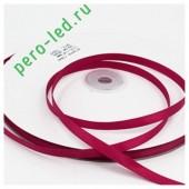 Бордо цвет. Репсовая тесьма для рукоделия .6 мм. 100 м
