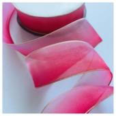Красно-розовый цвет. Цветная капроновая лента 2.5 см  25 м