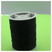 1 кат. Черный цвет. Цветная металлическая нить