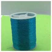 1 кат. Голубой цвет. Цветная металлическая нить