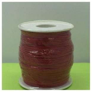1 мм. Красный цвет. Вощенный хлопковый шнур. 100 м