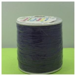 1 мм. Фиолетовый цвет. Вощенный хлопковый шнур. 100 м