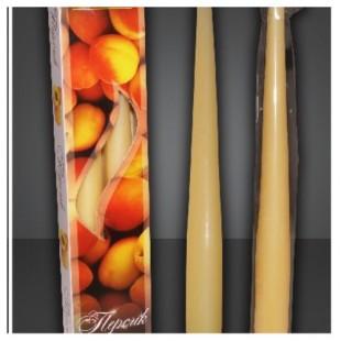 2 шт. Персик  Свеча ароматическая 2 см X 2 см X 25 см