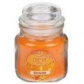 6х6х8.5 см. Апельсин. Свеча ароматическая в стекле с крышкой.