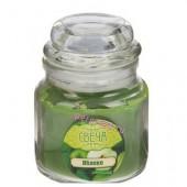 6х6х8.5 см. Яблоко. Свеча ароматическая в стекле с крышкой.