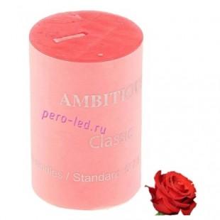 Свеча ароматическая пеньковая. Роза. 5 см х 5 см х 7.5 см