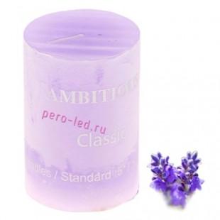 Свеча ароматическая пеньковая. Лаванда. 5 см х 5 см х 7.5 см