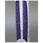2 шт. Фиолетовый цвет. Свеча классическая витая в коробочке. 2 см X 2 см X 25 см