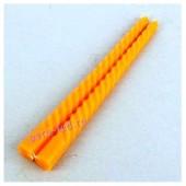 2шт. Оранжевый цвет. Свеча классическая витая.  2см х 2см х 25 см