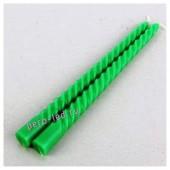 2шт. Зеленый цвет.  Свеча классическая витая. 2см х 2см х 25 см