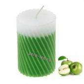 5х5х7.5 см. Яблоко. Свеча ароматическая столбик. Гофрированная.