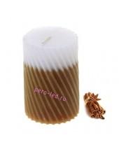 5х5х7.5 см Корица. Свеча ароматическая столбик. Гофрированная.