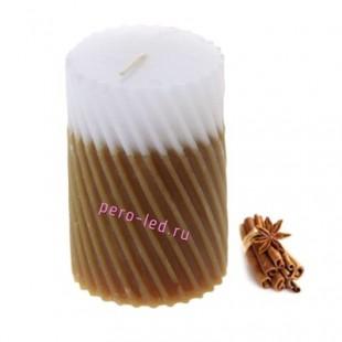 5х5х7.5 см Корица. Свеча ароматическая столбик. Гофрированная