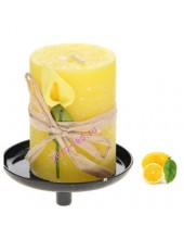 4.5х4.5х6 см. Лимон. Свеча ароматическая Лилия на подставке.