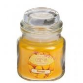 6х6х8.5 см. Лимон. Свеча ароматическая в стекле с крышкой.