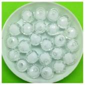10 мм. 50 гр. Белый полупрозрачный цвет. Бусинки резка  Пришивные № 1.  055