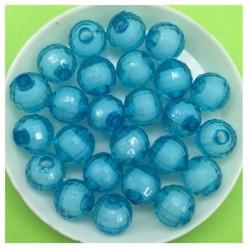 10 мм. 50 гр. Голубой полупрозрачный цвет. Бусинки резка  Пришивные № 4.  055