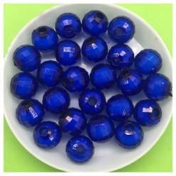 10 мм. 50 гр. Синий полупрозрачный цвет. Бусинки резка Пришивные № 5.  055