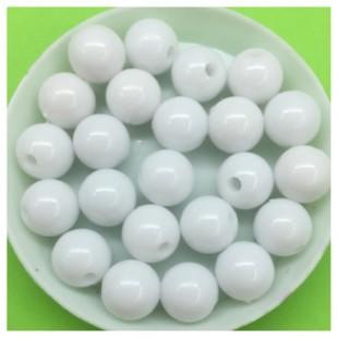 10 мм. 50 гр. Белый цвет. Цветные бусинки № 1.   050
