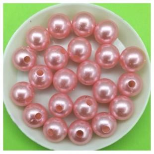 10 мм. 500 гр. Розовый с перламутром цвет. Цветные бусинки № 12.   050