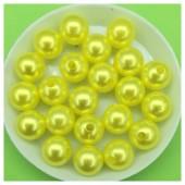 10 мм. 50 гр. Лимонный с перламутром цвет. Цветные бусинки № 13.   050