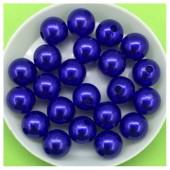 10 мм. 50 гр. Синий с перламутром цвет. Цветные бусинки № 14.   050