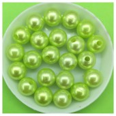 10 мм. 450 гр. Светло-зеленый с перламутром цвет. Цветные бусинки № 16.   050