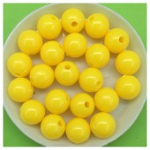 10 мм. 50 гр. Желтый цвет. Цветные бусинки  № 2.   050