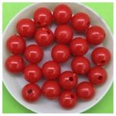 10 мм. 50 гр. Красный цвет. Цветные бусинки № 4.   050