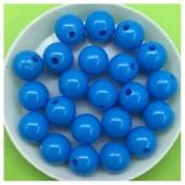 10 мм. 50 гр. Голубой цвет. Цветные бусинки № 6.    050
