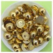 № 10. Золото цвет. Бусинки клеевые 100 шт. № 1