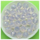 10 мм. 70 шт. Лунный цвет. Бусинки круглые с огранкой стеклярус № 15