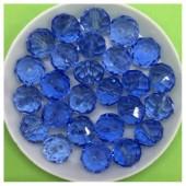 10 мм. 70 шт. Сине-голубой прозрачный цвет. Бусинки круглые с огранкой стеклярус № 18