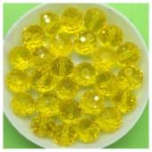 10 мм. 70 шт. Желтый прозрачный цвет. Бусинки круглые с огранкой стеклярус № 5