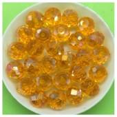 10 мм. 70 шт. Желто-оранжевый хамелеон цвет. Бусинки круглые с огранкой стеклярус № 7