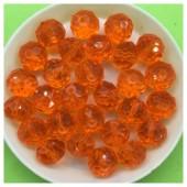 10 мм. 70 шт. Оранжевый цвет. Бусинки круглые с огранкой стеклярус № 9