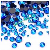 SS12. Синий хамелеон цвет #11. Стразы клеевые холодной фиксации с плоским основанием. Огранка Люкс 14 граней. Упаковка 1400 шт.
