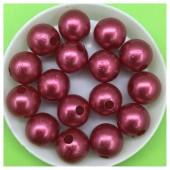 12 мм. 450 гр. Бордо с красным перламутром цвет. Цветные бусинки № 12.   050