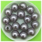 12 мм. 450 гр. Серый с перламутром цвет. Цветные бусинки № 15.   050