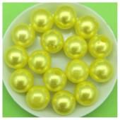 12 мм. 450 гр. Лимонный с перламутром цвет. Цветные бусинки № 3.   050