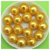 12 мм. 450 гр. Желто-оранжевый с перламутром цвет. Цветные бусинки № 4.   050