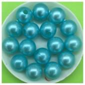 12 мм. 450 гр. Голубой с перламутром цвет. Цветные бусинки № 7.   050