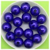 12 мм. 450 гр. Синий с перламутром цвет. Цветные бусинки № 8.   050